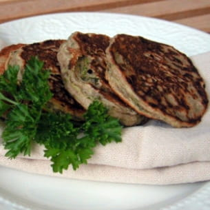 blinis de courgettes au sarrasin