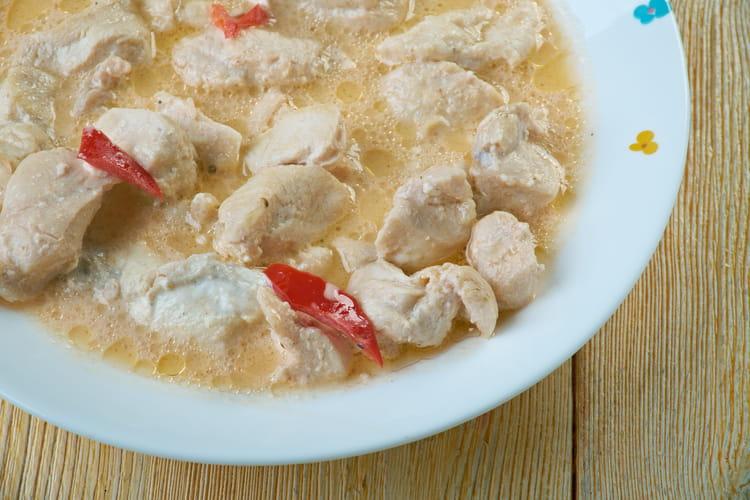 Poulet au lait de coco et sauce soja