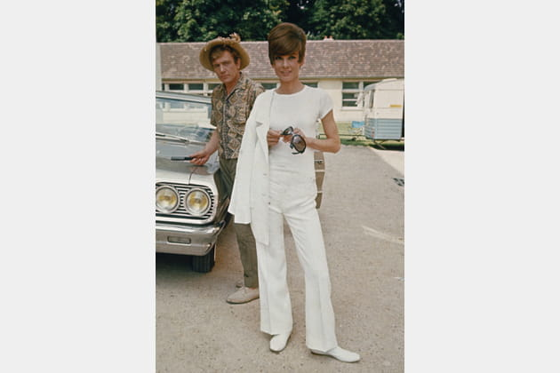 Audrey Hepburn en costume blanc