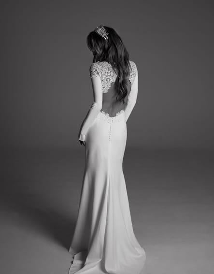 Robe de mariée Adèle, de dos