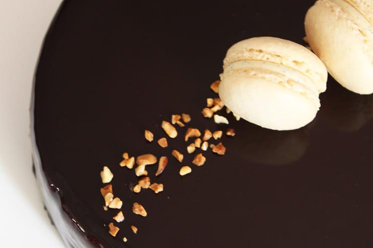 Entremets chocolat, vanille et praliné - Caraque
