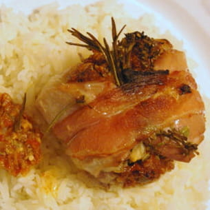 paupiettes de lapin à la purée de tomates séchées
