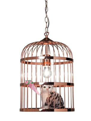 suspension cage cat chez epi luminaires. Black Bedroom Furniture Sets. Home Design Ideas