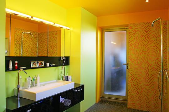 Salle de bains de couleur
