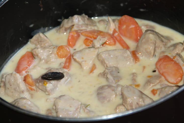 Blanquette de veau à la fève tonka