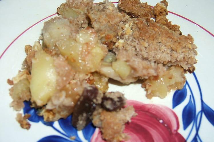 Crumble pommes bananes et noix de coco