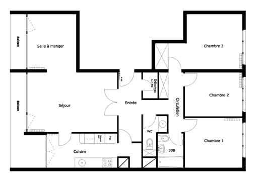 Le plan de l\'appartement avant