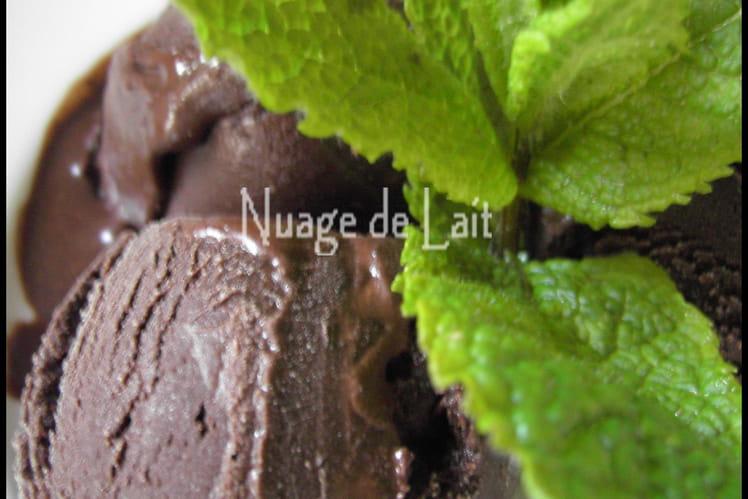 Sorbet chocolat amer-menthe