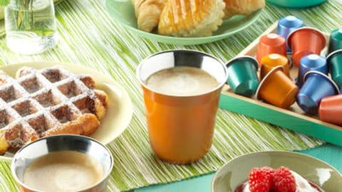 Nespresso propose un petit déjeuner fort de café