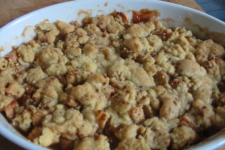 Crumble pommes-cannelle