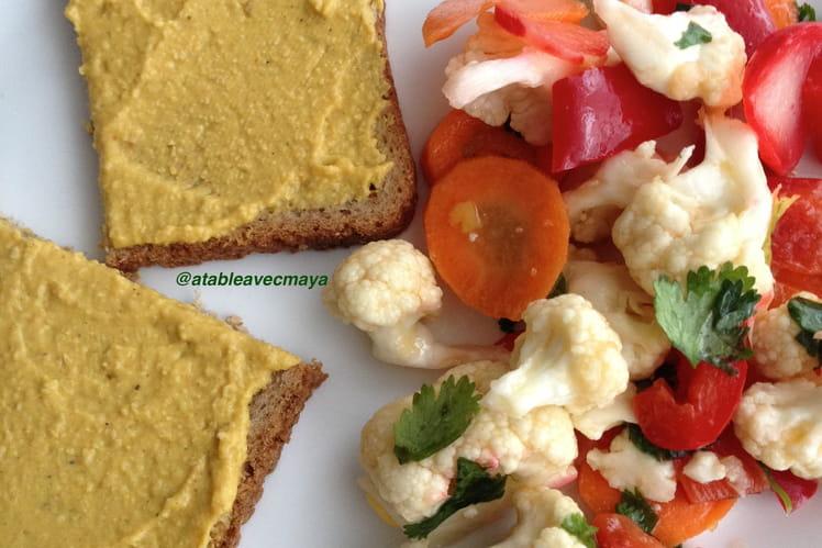 Salade de chou fleur, citron et coriandre