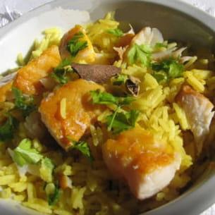 kedgeree (riz au curry et au haddock)