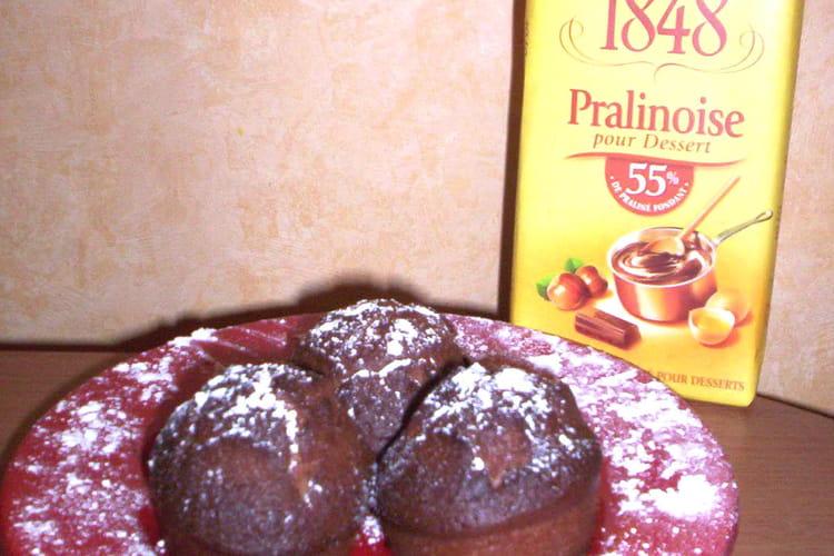 Muffins châtaigne - praliné