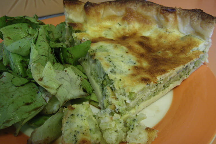 Quiche brocoli-roquefort