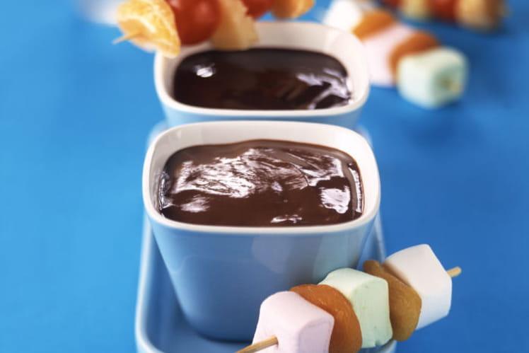 Fondue MONT BLANC aux deux Chocolats