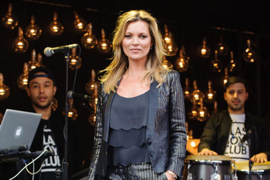 Le look people du jour : Kate Moss, brillante