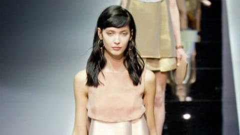 Fashion week Milan : défilé Emporio Armani printemps-été 2013