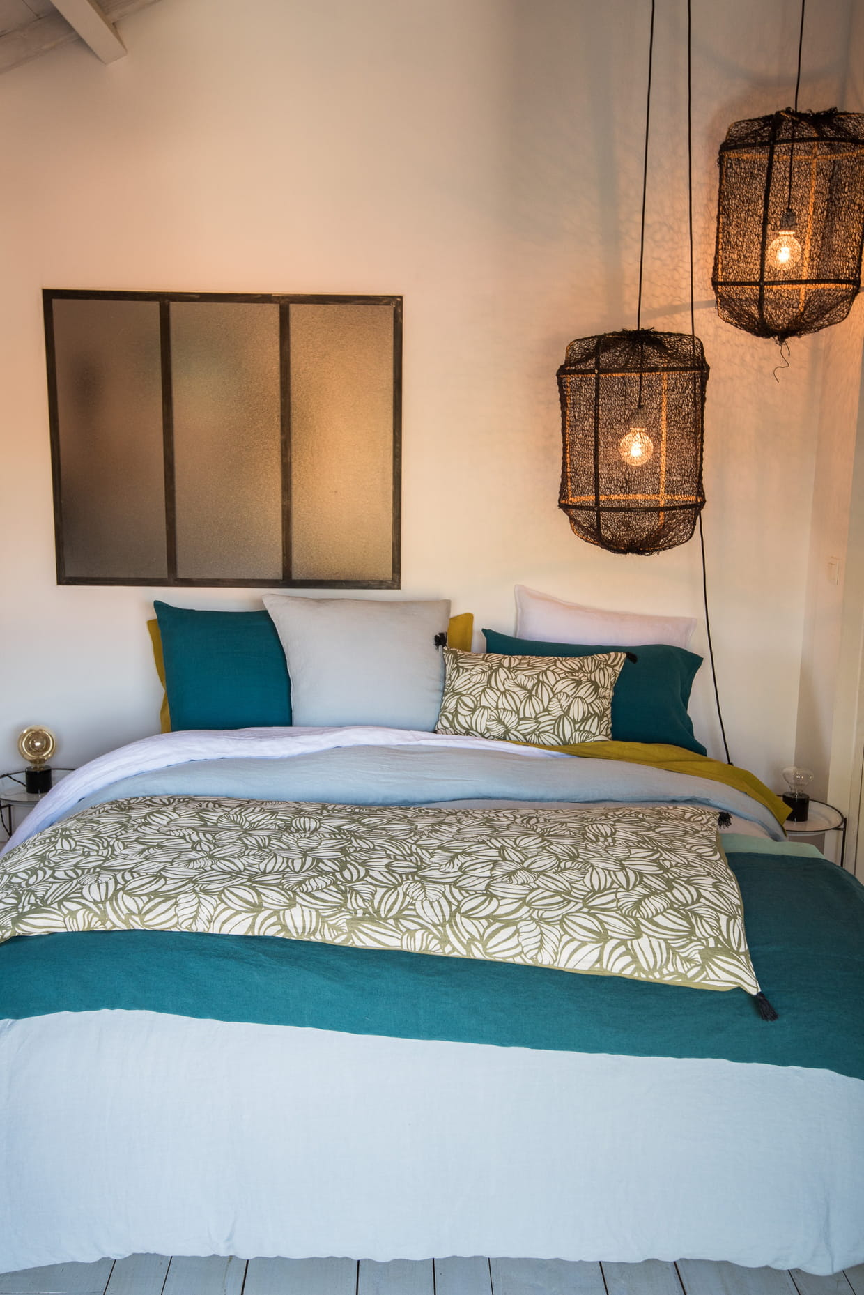 linge de lit en lin harmony textile. Black Bedroom Furniture Sets. Home Design Ideas