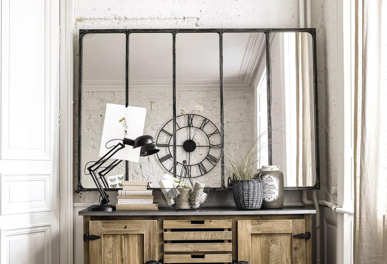 Miroir verrière: un must have du style industriel