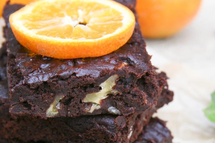 Brownie végétal aux haricots rouges sans gluten, sans oeufs et sans lactose