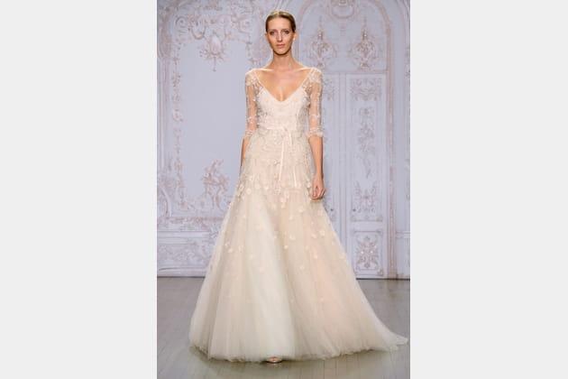 La robe poudr e monique lhuillier for Monique lhuillier robes de mariage