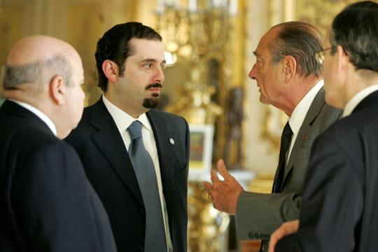 Jacques Chirac et la famille Hariri