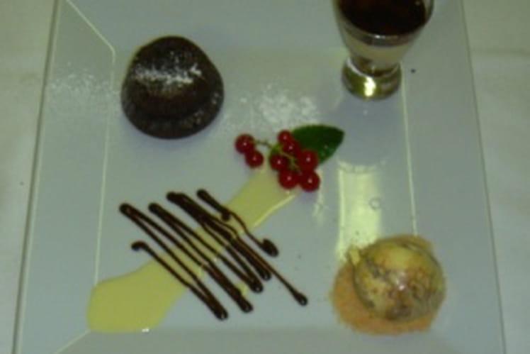 Moelleux au chocolat et griottes