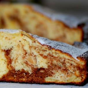 gâteau au yaourt marbré pommes-chocolat