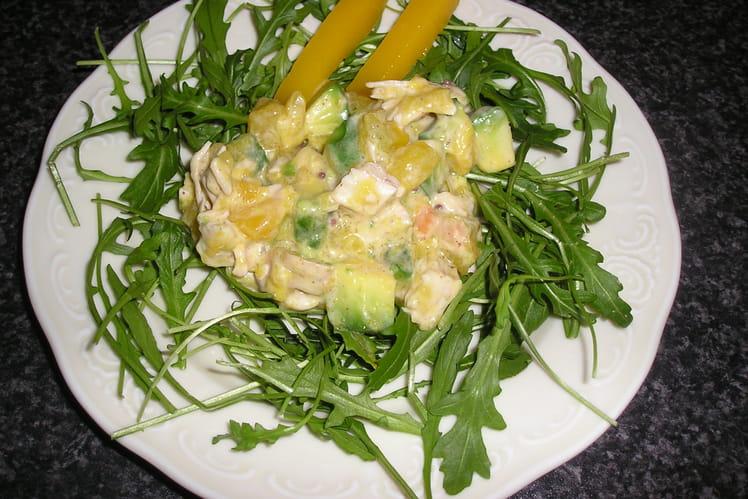 Salade de mangue et d'avocat