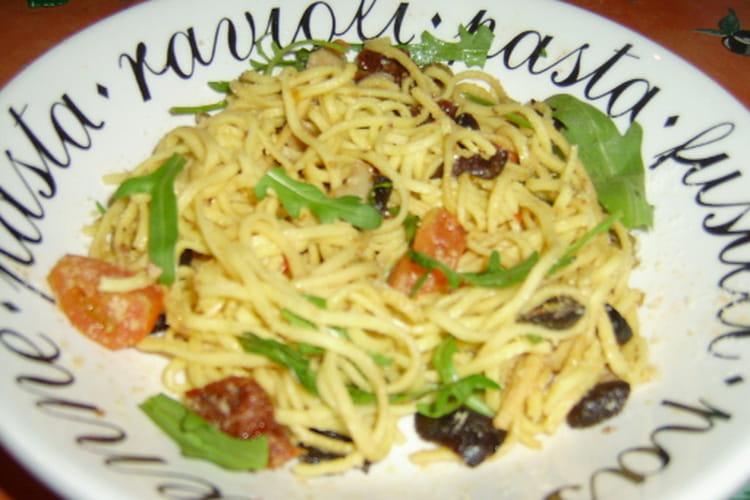 Spaghettis aux saveurs du Sud