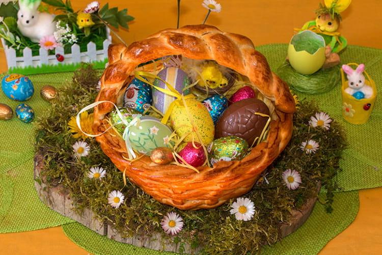 Panier brioché pour Pâques