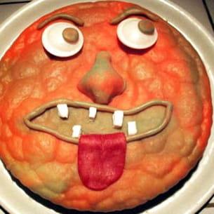 gâteau tête de monstre