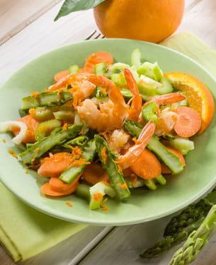 salade aux crevettes.