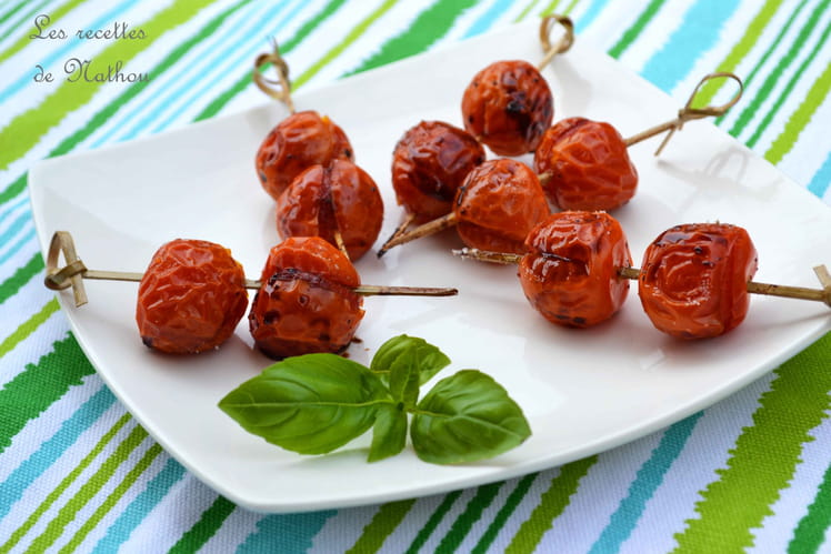Tomates cerise caramélisées au vinaigre balsamique