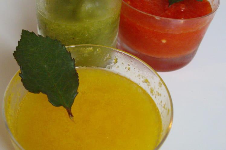 Trio de verrines aux poivrons givrés