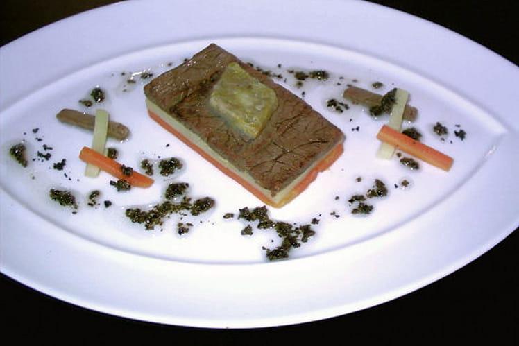 Pot-au-feu pressé, vinaigrette à la truffe noire