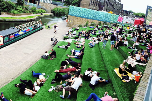 Granary Square : la vie en vert