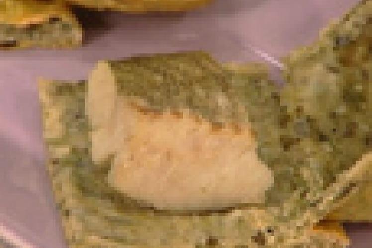 Lieu jaune en croûte de sel et d'algues