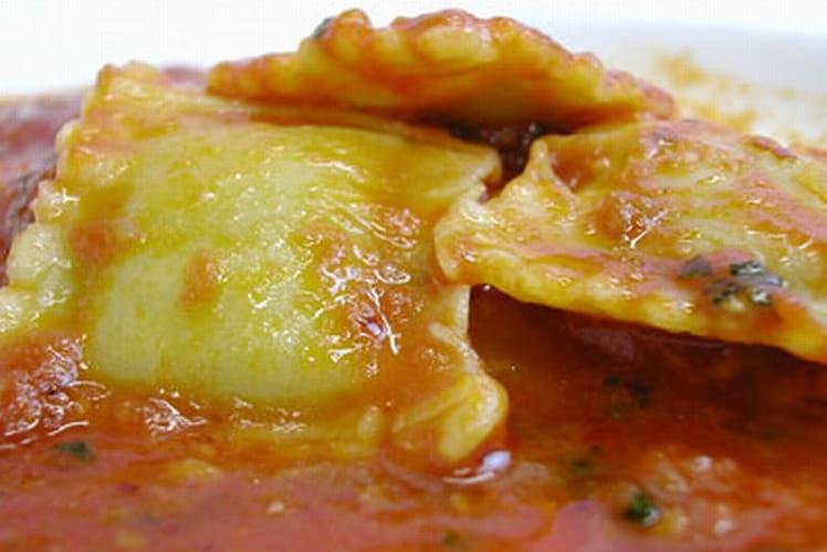 Raviolis à la crème de légumes