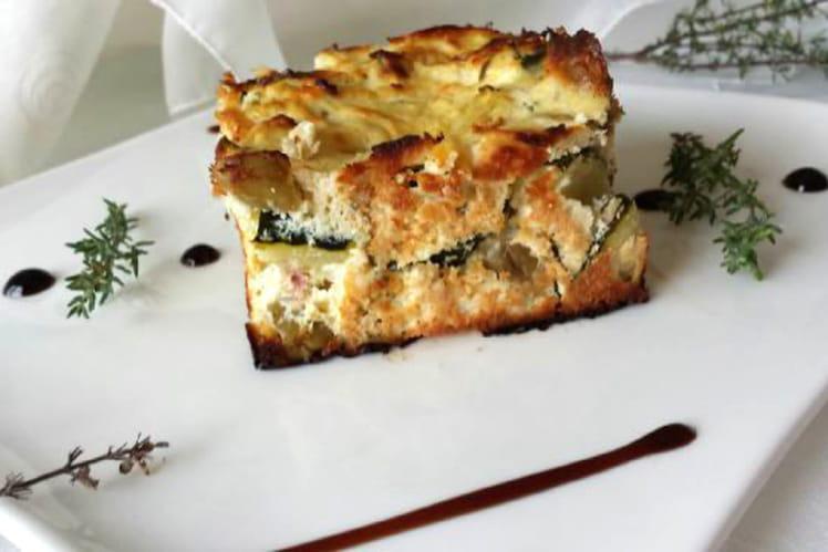 Gâteau courgettes, ricotta et thym