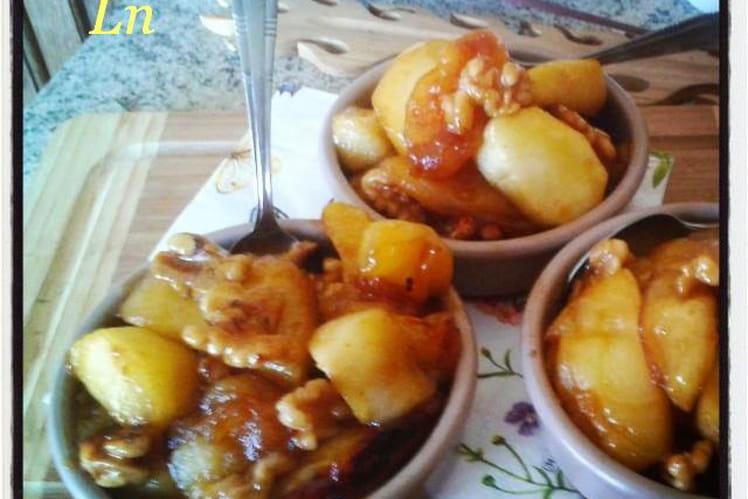 Pommes tatin aux noix caramelisées