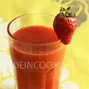 smoothie fraises et orange.