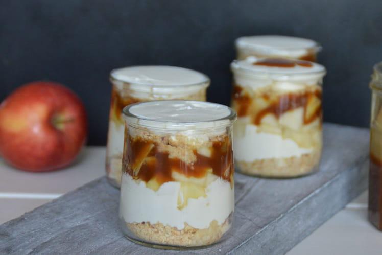 Verrines pomme, poire, mascarpone