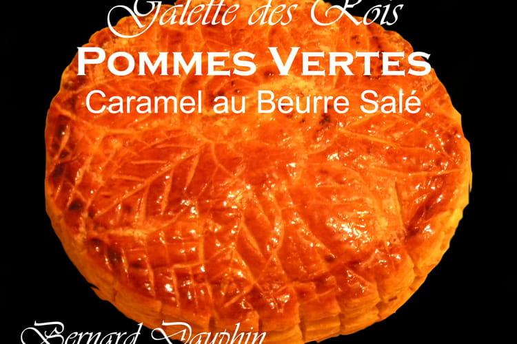Galette des rois pomme verte caramel beurre salé