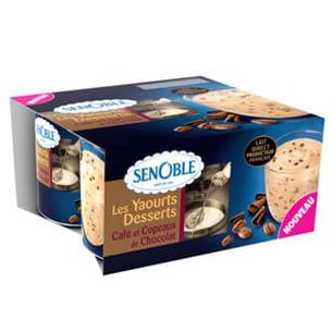 yaourts desserts café et copeaux de chocolat