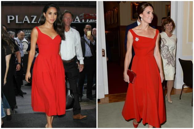 La robe midi rouge