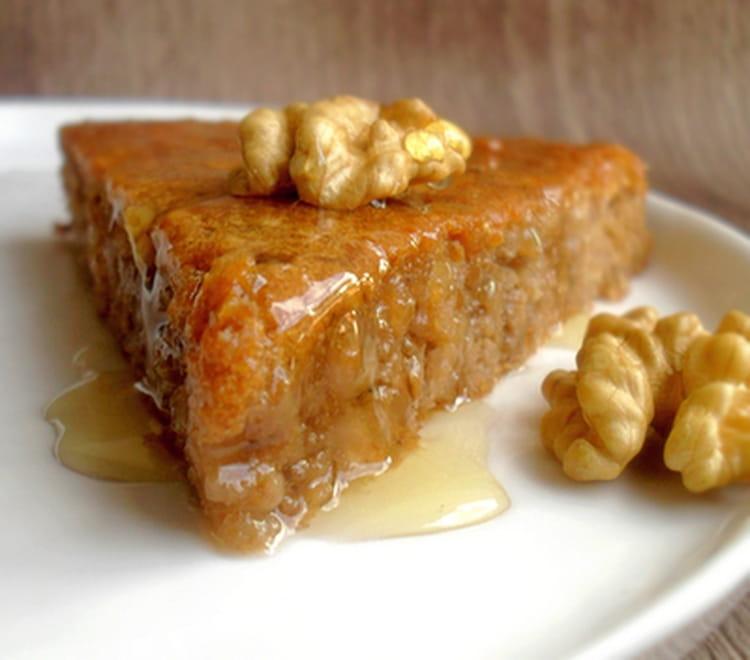Cake Pommes Noix Miel Sans Beurre