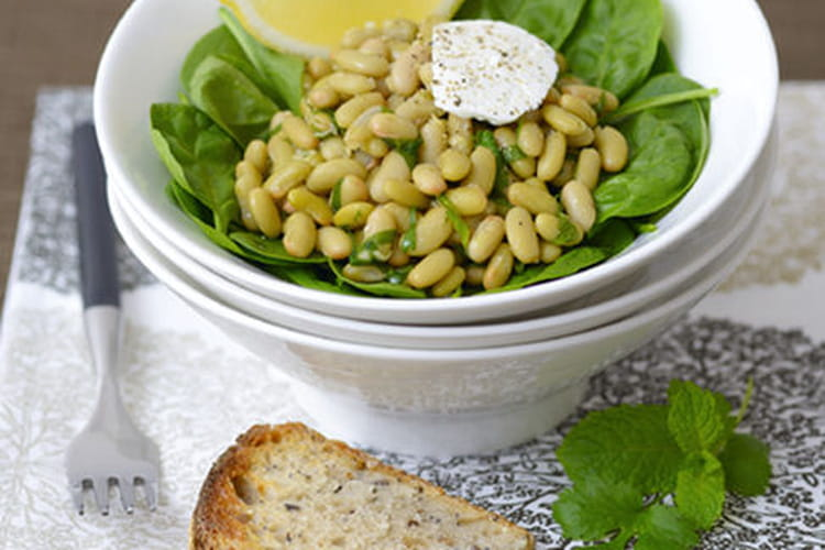 Salade chaude de flageolets aux épices
