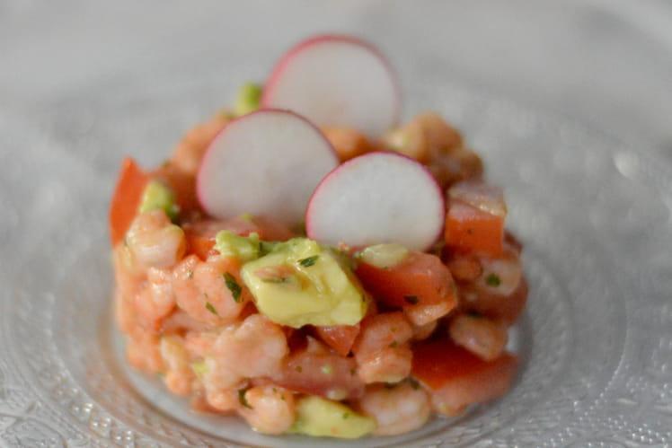 Salade de crevettes façon ceviche