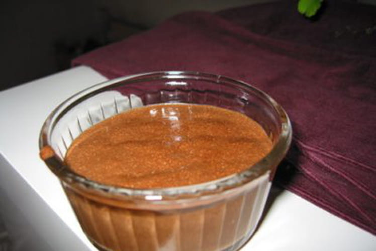 Mousse au chocolat et pépites